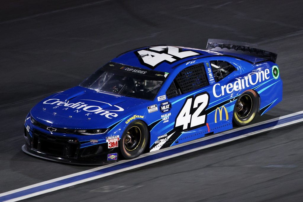 CONCORD, NORTH CAROLINA - MAY 28: Matt Kenseth, driver of the #42 Credit One Bank Chevrolet, drives during the NASCAR Cup Series Alsco Uniforms 500 at Charlotte Motor Speedway on May 28, 2020 in Concord, North Carolina. (Photo by Chris Graythen/Getty Images) | Getty Images