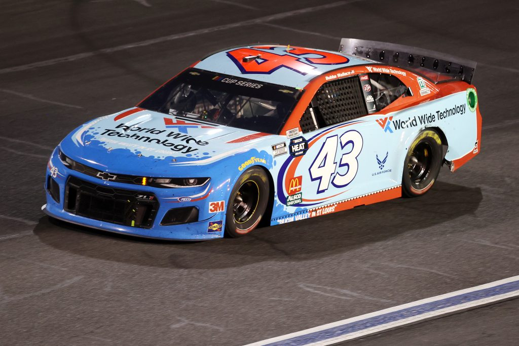 CONCORD, NORTH CAROLINA - MAY 28: Bubba Wallace, driver of the #43 World Wide Technology Chevrolet, drives during the NASCAR Cup Series Alsco Uniforms 500 at Charlotte Motor Speedway on May 28, 2020 in Concord, North Carolina. (Photo by Chris Graythen/Getty Images) | Getty Images