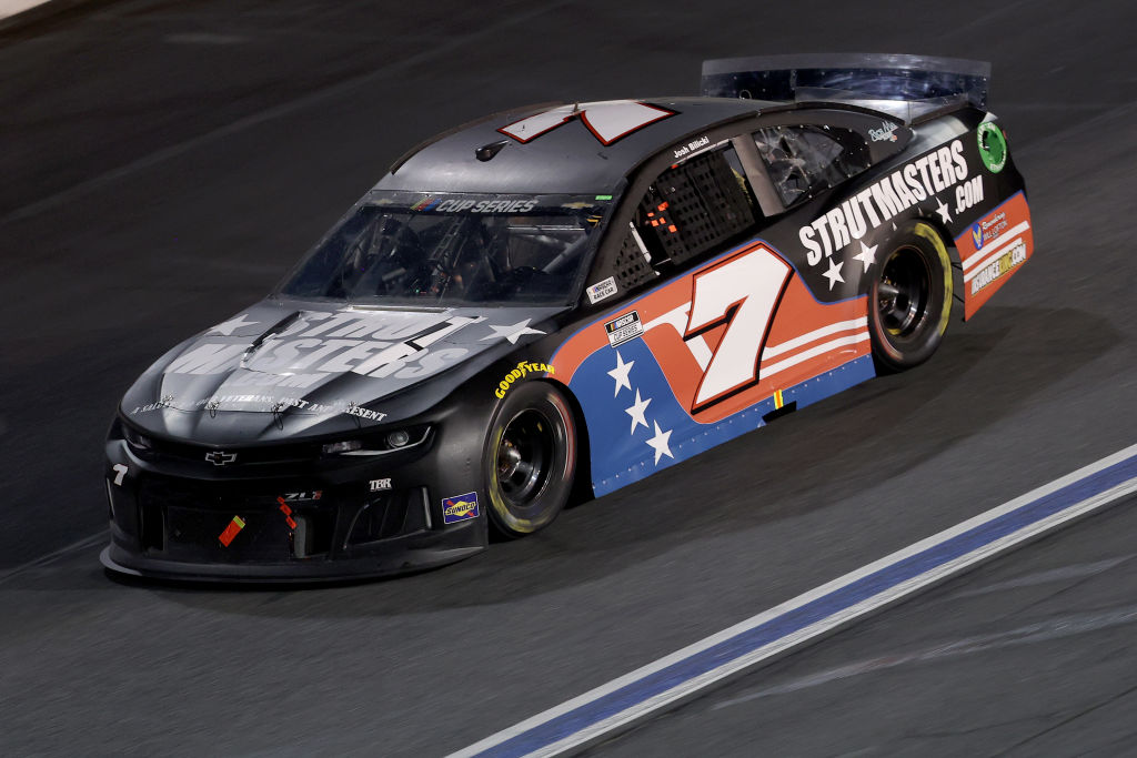 CONCORD, NORTH CAROLINA - MAY 28: Josh Bilicki, driver of the #7 Chevrolet, drives during the NASCAR Cup Series Alsco Uniforms 500 at Charlotte Motor Speedway on May 28, 2020 in Concord, North Carolina. (Photo by Chris Graythen/Getty Images) | Getty Images