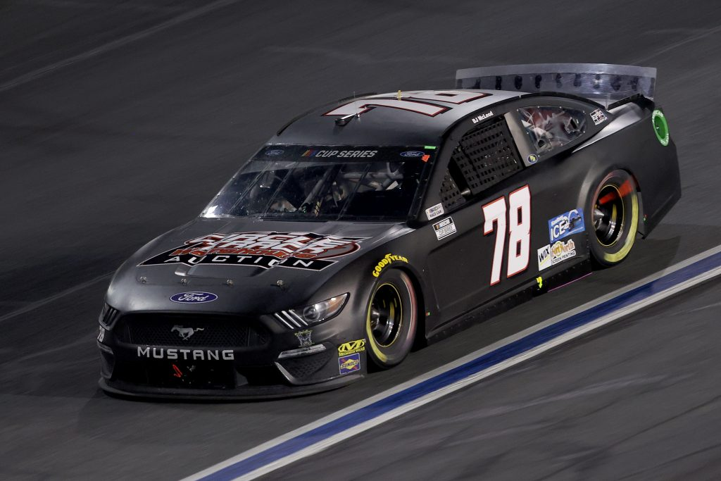 CONCORD, NORTH CAROLINA - MAY 28: BJ McLeod, driver of the #78 Circle Track Warehouse Ford, drives during the NASCAR Cup Series Alsco Uniforms 500 at Charlotte Motor Speedway on May 28, 2020 in Concord, North Carolina. (Photo by Chris Graythen/Getty Images) | Getty Images