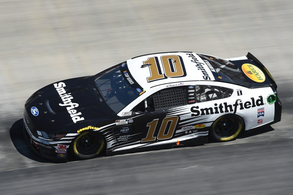 BRISTOL, TENNESSEE - MAY 31: Aric Almirola, driver of the #10 Smithfield Ford, drive s during the NASCAR Cup Series Food City presents the Supermarket Heroes 500 at Bristol Motor Speedway on May 31, 2020 in Bristol, Tennessee. (Photo by Jared C. Tilton/Getty Images) | Getty Images