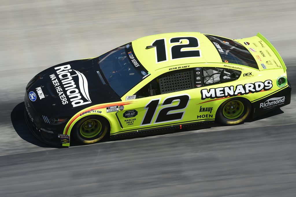 BRISTOL, TENNESSEE - MAY 31: Ryan Blaney, driver of the #12 Menards/Richmond Ford, drives during the NASCAR Cup Series Food City presents the Supermarket Heroes 500 at Bristol Motor Speedway on May 31, 2020 in Bristol, Tennessee. (Photo by Jared C. Tilton/Getty Images) | Getty Images