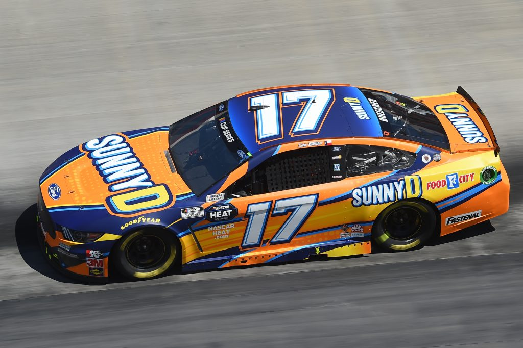 BRISTOL, TENNESSEE - MAY 31: Chris Buescher, driver of the #17 SunnyD Ford, drives during the NASCAR Cup Series Food City presents the Supermarket Heroes 500 at Bristol Motor Speedway on May 31, 2020 in Bristol, Tennessee. (Photo by Jared C. Tilton/Getty Images) | Getty Images