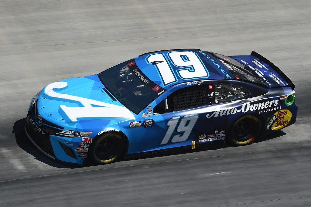 BRISTOL, TENNESSEE - MAY 31: Martin Truex Jr., driver of the #19 Auto Owners Insurance Toyota, drives during the NASCAR Cup Series Food City presents the Supermarket Heroes 500 at Bristol Motor Speedway on May 31, 2020 in Bristol, Tennessee. (Photo by Jared C. Tilton/Getty Images)   Getty Images