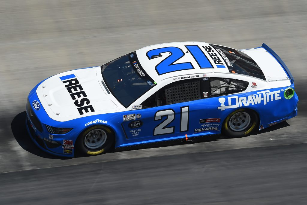 BRISTOL, TENNESSEE - MAY 31: Matt DiBenedetto, driver of the #21 Reese/Draw Tite Ford, drives during the NASCAR Cup Series Food City presents the Supermarket Heroes 500 at Bristol Motor Speedway on May 31, 2020 in Bristol, Tennessee. (Photo by Jared C. Tilton/Getty Images) | Getty Images