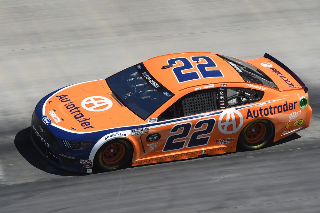 BRISTOL, TENNESSEE - MAY 31: Joey Logano, driver of the #22 Autotrader Ford, drives during the NASCAR Cup Series Food City presents the Supermarket Heroes 500 at Bristol Motor Speedway on May 31, 2020 in Bristol, Tennessee. (Photo by Jared C. Tilton/Getty Images) | Getty Images