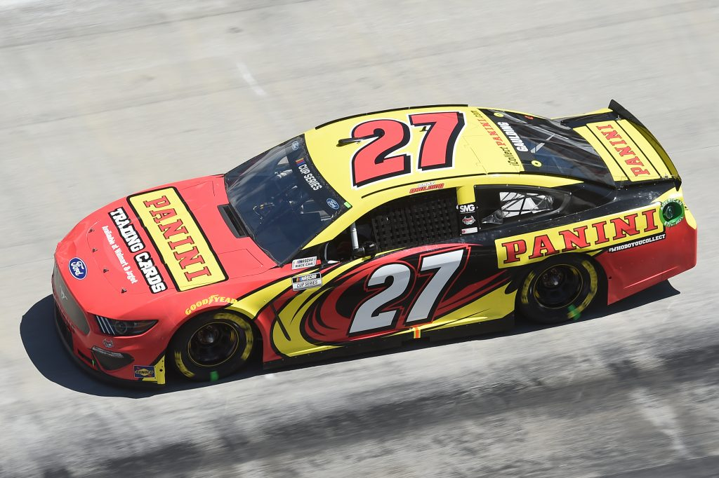BRISTOL, TENNESSEE - MAY 31: Gray Gaulding, driver of the #27 Ford, drives during the NASCAR Cup Series Food City presents the Supermarket Heroes 500 at Bristol Motor Speedway on May 31, 2020 in Bristol, Tennessee. (Photo by Jared C. Tilton/Getty Images)   Getty Images