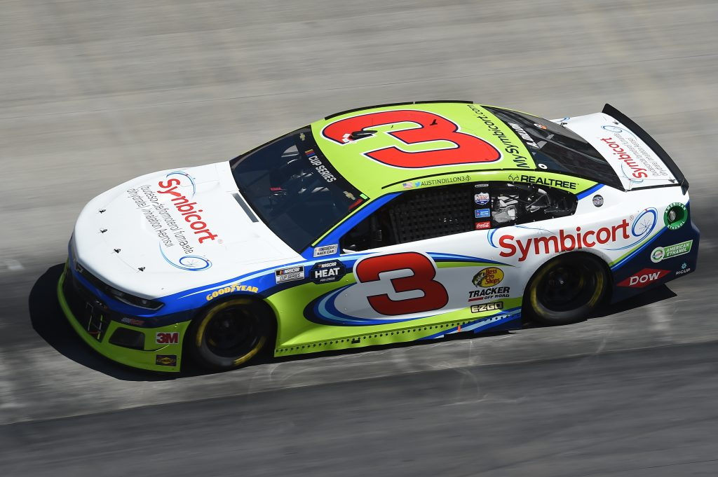 BRISTOL, TENNESSEE - MAY 31: Austin Dillon, driver of the #3 Symbicort Chevrolet, drives during the NASCAR Cup Series Food City presents the Supermarket Heroes 500 at Bristol Motor Speedway on May 31, 2020 in Bristol, Tennessee. (Photo by Jared C. Tilton/Getty Images) | Getty Images