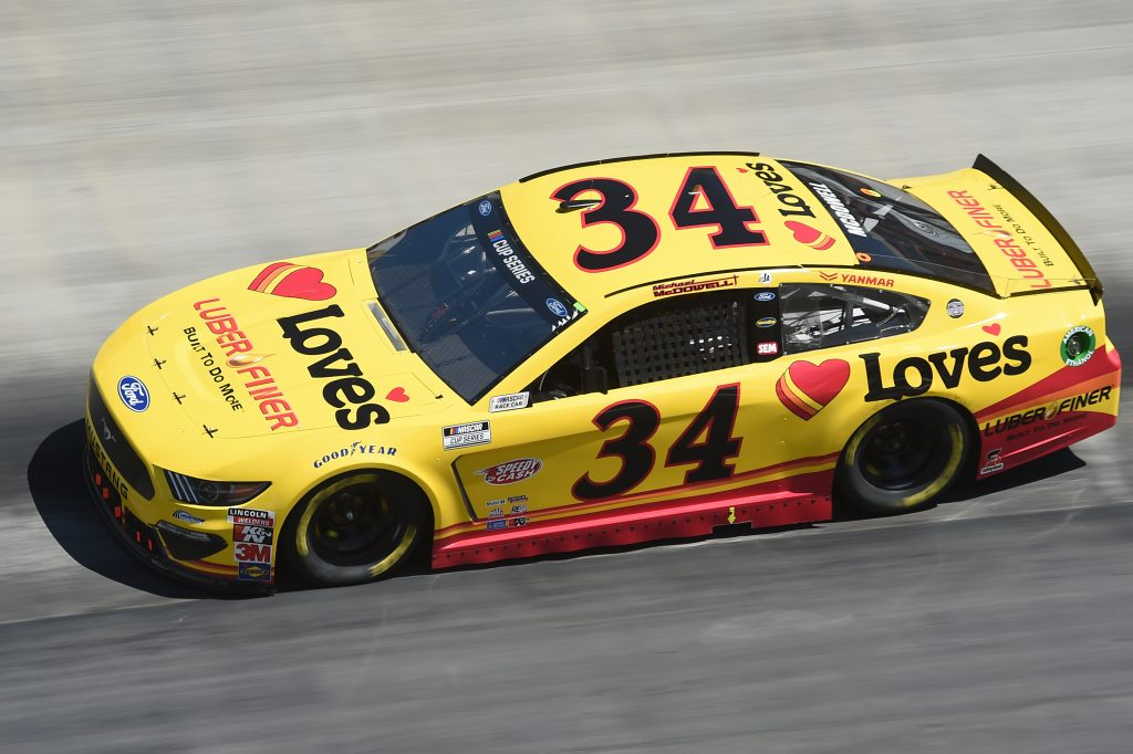 BRISTOL, TENNESSEE - MAY 31: Michael McDowell, driver of the #34 Ford, drives during the NASCAR Cup Series Food City presents the Supermarket Heroes 500 at Bristol Motor Speedway on May 31, 2020 in Bristol, Tennessee. (Photo by Jared C. Tilton/Getty Images) | Getty Images