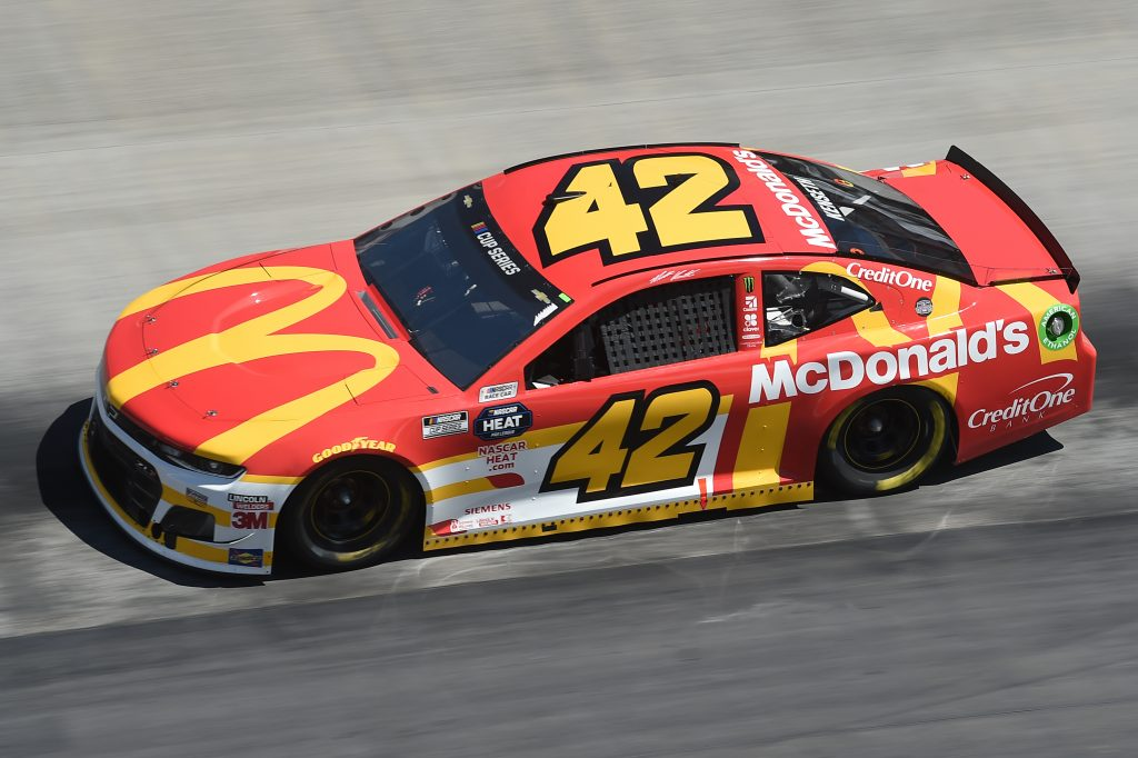 BRISTOL, TENNESSEE - MAY 31: Matt Kenseth, driver of the #42 Chevrolet, drives during the NASCAR Cup Series Food City presents the Supermarket Heroes 500 at Bristol Motor Speedway on May 31, 2020 in Bristol, Tennessee. (Photo by Jared C. Tilton/Getty Images) | Getty Images