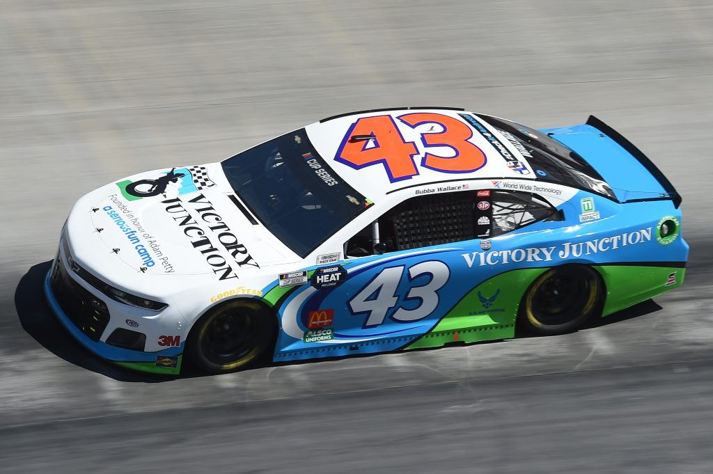 BRISTOL, TENNESSEE - MAY 31: Bubba Wallace, driver of the #43 Chevrolet, drives during the NASCAR Cup Series Food City presents the Supermarket Heroes 500 at Bristol Motor Speedway on May 31, 2020 in Bristol, Tennessee. (Photo by Jared C. Tilton/Getty Images) | Getty Images