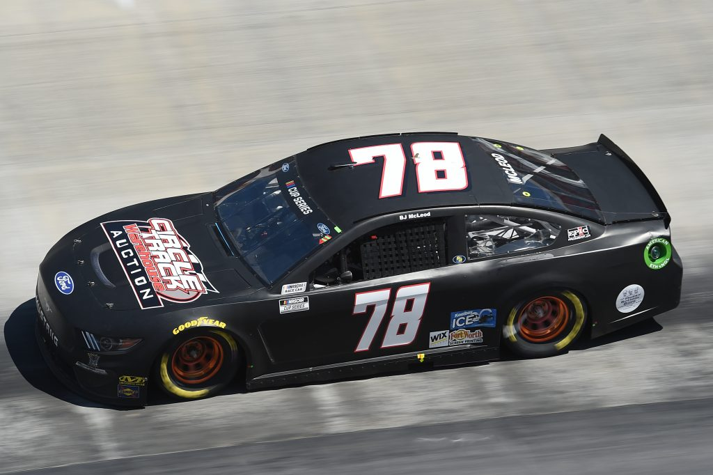 BRISTOL, TENNESSEE - MAY 31: BJ McLeod, driver of the #78 Circle Track Warehouse Chevrolet, drives during the NASCAR Cup Series Food City presents the Supermarket Heroes 500 at Bristol Motor Speedway on May 31, 2020 in Bristol, Tennessee. (Photo by Jared C. Tilton/Getty Images) | Getty Images