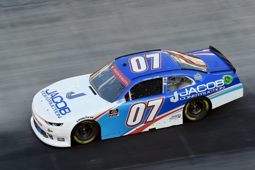 BRISTOL, TENNESSEE - JUNE 01: Carson Ware, driver of the #07 Jacob Construction Chevrolet, drives during the NASCAR Xfinity Series Cheddar's 300 presented by Alsco at Bristol Motor Speedway on June 01, 2020 in Bristol, Tennessee. (Photo by Jared C. Tilton/Getty Images) | Getty Images