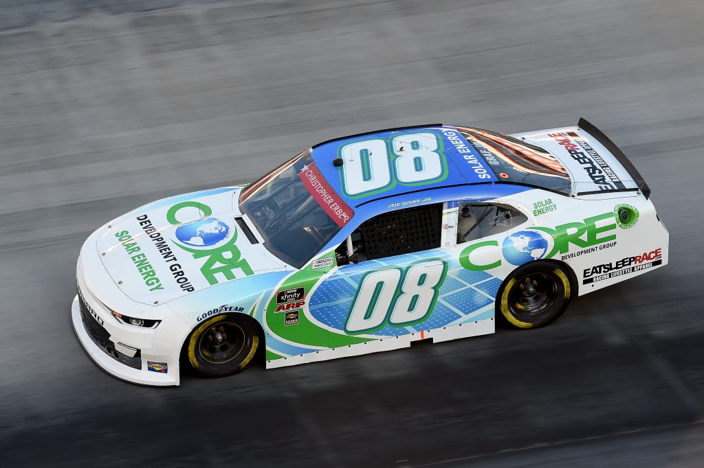 BRISTOL, TENNESSEE - JUNE 01: Joe Graf Jr., driver of the #08 CORE Development Group Chevrolet, drives during the NASCAR Xfinity Series Cheddar's 300 presented by Alsco at Bristol Motor Speedway on June 01, 2020 in Bristol, Tennessee. (Photo by Jared C. Tilton/Getty Images) | Getty Images