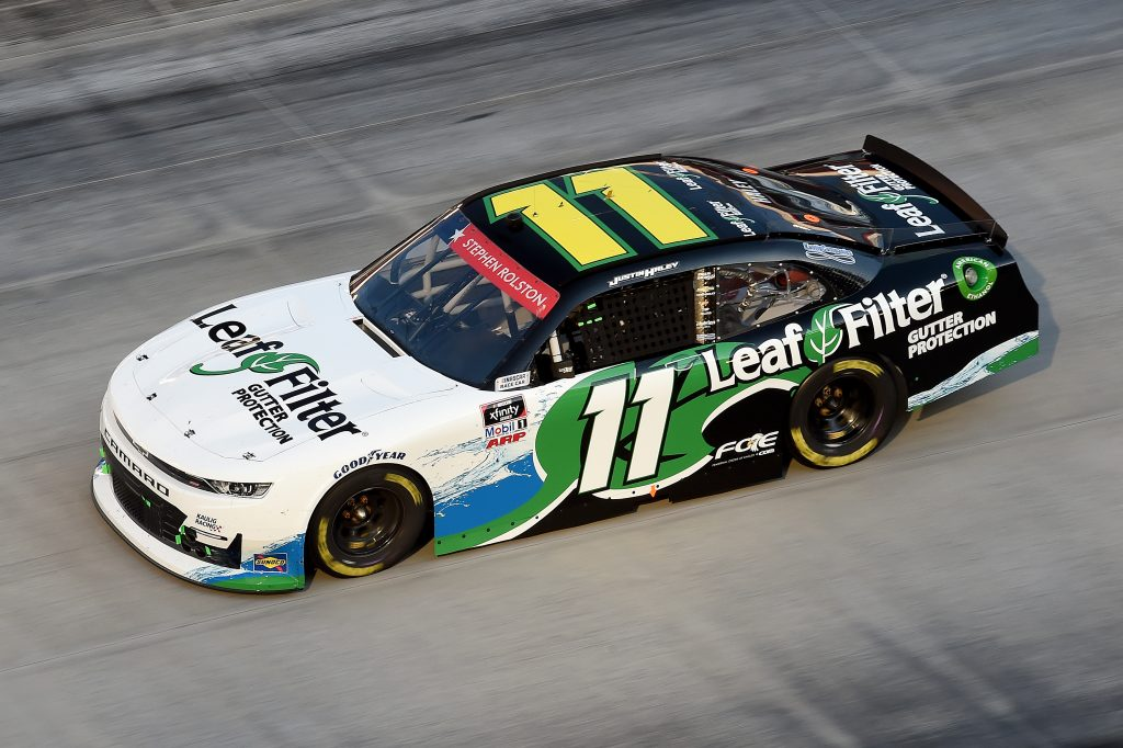 BRISTOL, TENNESSEE - JUNE 01: Justin Haley, driver of the #11 LeafFilter Gutter Protection Chevrolet, drives during the NASCAR Xfinity Series Cheddar's 300 presented by Alsco at Bristol Motor Speedway on June 01, 2020 in Bristol, Tennessee. (Photo by Jared C. Tilton/Getty Images) | Getty Images