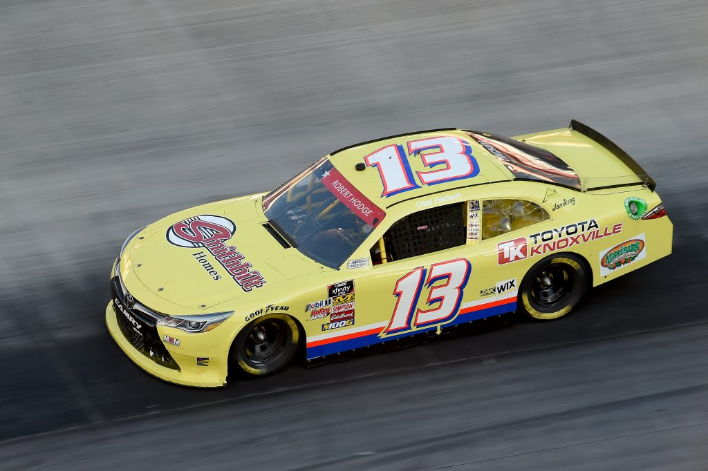 BRISTOL, TENNESSEE - JUNE 01: Chad Finchum, driver of the #13 MBM Motorsports Toyota, drives during the NASCAR Xfinity Series Cheddar's 300 presented by Alsco at Bristol Motor Speedway on June 01, 2020 in Bristol, Tennessee. (Photo by Jared C. Tilton/Getty Images) | Getty Images