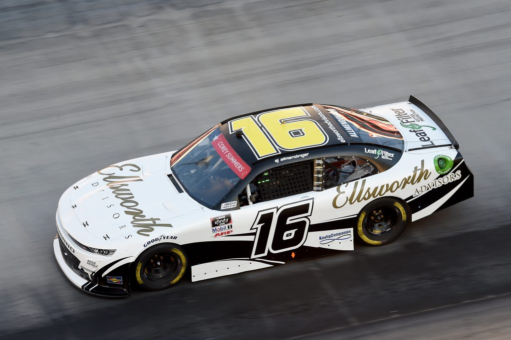 BRISTOL, TENNESSEE - JUNE 01: AJ Allmendinger, driver of the #16 Ellsworth Advisors Chevrolet, drives during the NASCAR Xfinity Series Cheddar's 300 presented by Alsco at Bristol Motor Speedway on June 01, 2020 in Bristol, Tennessee. (Photo by Jared C. Tilton/Getty Images) | Getty Images