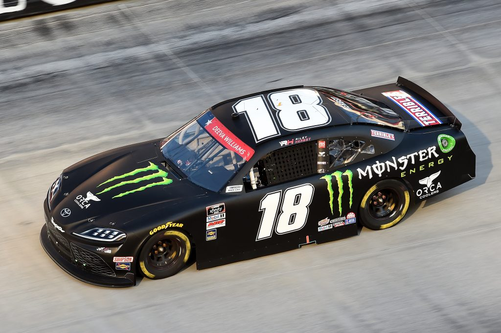 BRISTOL, TENNESSEE - JUNE 01: Riley Herbst, driver of the #18 Monster Energy Toyota, drives during the NASCAR Xfinity Series Cheddar's 300 presented by Alsco at Bristol Motor Speedway on June 01, 2020 in Bristol, Tennessee. (Photo by Jared C. Tilton/Getty Images) | Getty Images