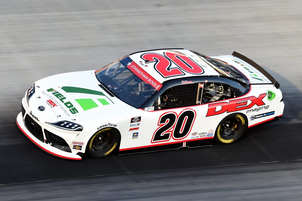 BRISTOL, TENNESSEE - JUNE 01: Harrison Burton, driver of the #20 DEX Imaging/Fields Toyota, drives during the NASCAR Xfinity Series Cheddar's 300 presented by Alsco at Bristol Motor Speedway on June 01, 2020 in Bristol, Tennessee. (Photo by Jared C. Tilton/Getty Images) | Getty Images
