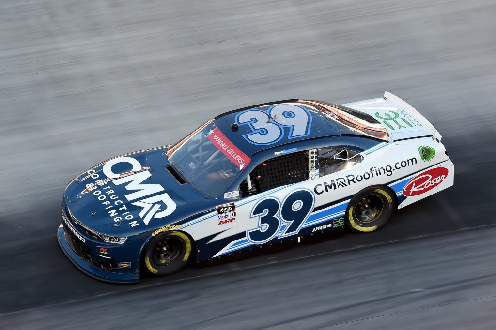 BRISTOL, TENNESSEE - JUNE 01: Ryan Sieg, driver of the #39 CMRRoofing.com Chevrolet, drives during the NASCAR Xfinity Series Cheddar's 300 presented by Alsco at Bristol Motor Speedway on June 01, 2020 in Bristol, Tennessee. (Photo by Jared C. Tilton/Getty Images) | Getty Images