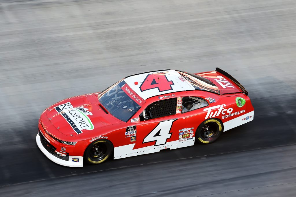 BRISTOL, TENNESSEE - JUNE 01: Jesse Little, driver of the #4 Visit Kingsport/Tufco Chevrolet, drives during the NASCAR Xfinity Series Cheddar's 300 presented by Alsco at Bristol Motor Speedway on June 01, 2020 in Bristol, Tennessee. (Photo by Jared C. Tilton/Getty Images) | Getty Images