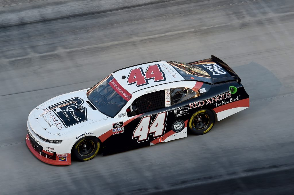 BRISTOL, TENNESSEE - JUNE 01: Tommy Joe Martins, driver of the #44 Gilreath Farms Red Angus Chevrolet, drives during the NASCAR Xfinity Series Cheddar's 300 presented by Alsco at Bristol Motor Speedway on June 01, 2020 in Bristol, Tennessee. (Photo by Jared C. Tilton/Getty Images) | Getty Images