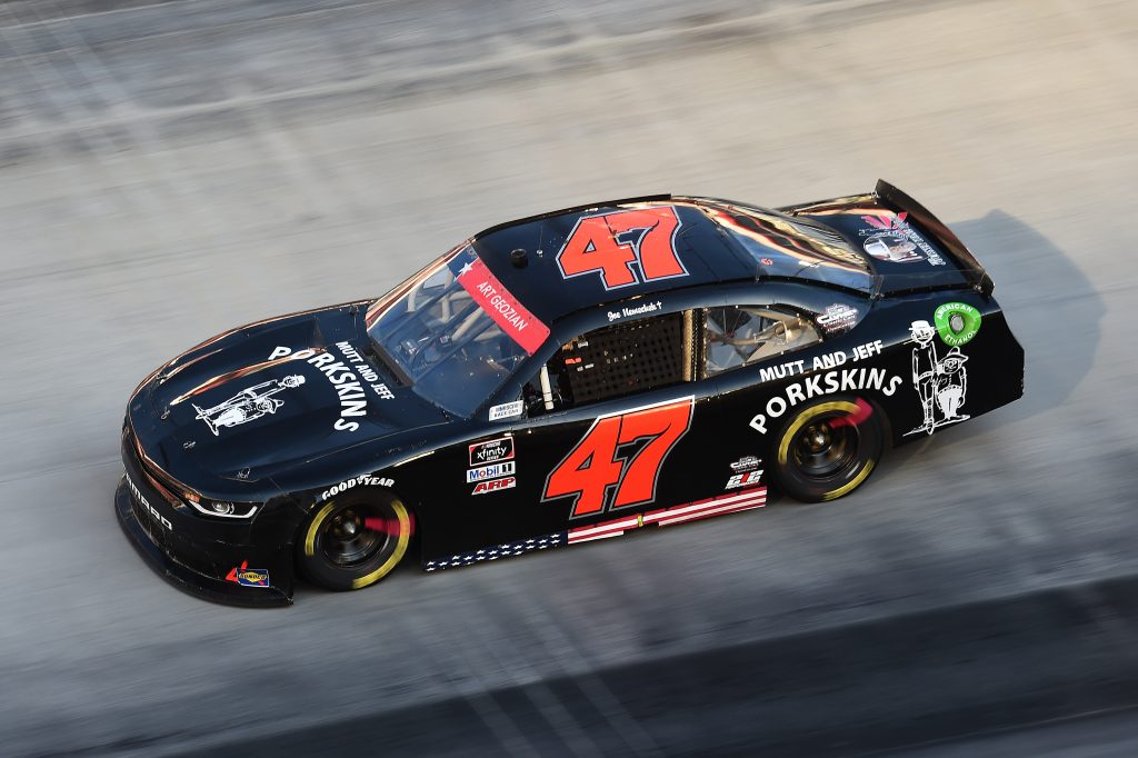 BRISTOL, TENNESSEE - JUNE 01: Joe Nemechek, driver of the #47 Chevrolet, drives during the NASCAR Xfinity Series Cheddar's 300 presented by Alsco at Bristol Motor Speedway on June 01, 2020 in Bristol, Tennessee. (Photo by Jared C. Tilton/Getty Images) | Getty Images