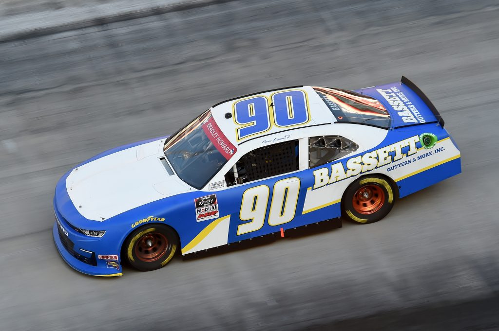 BRISTOL, TENNESSEE - JUNE 01: Ronnie Bassett Jr., driver of the #90 Bassett Gutters & More Chevrolet, drives during the NASCAR Xfinity Series Cheddar's 300 presented by Alsco at Bristol Motor Speedway on June 01, 2020 in Bristol, Tennessee. (Photo by Jared C. Tilton/Getty Images) | Getty Images