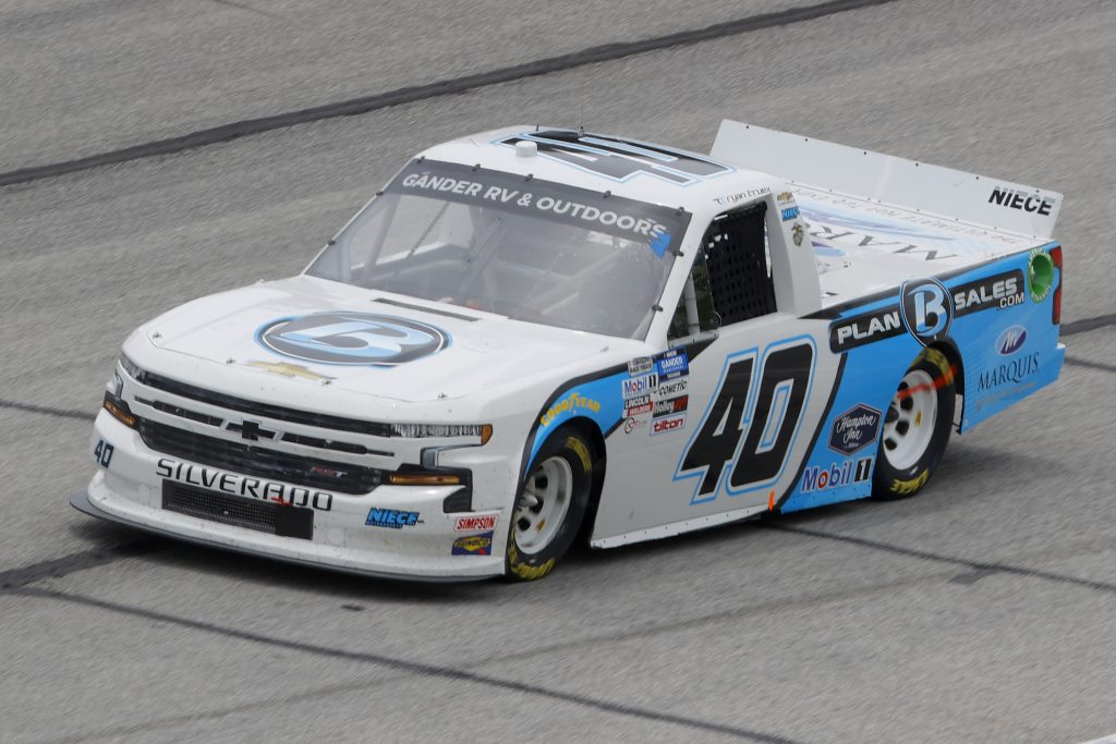 HAMPTON, GEORGIA - JUNE 06: Ryan Truex, driver of the #40 Plan B Sales Chevrolet, drives during the NASCAR Gander Outdoors Truck Series Vet Tix Camping World 200 at Atlanta Motor Speedway on June 06, 2020 in Hampton, Georgia. (Photo by Chris Graythen/Getty Images) | Getty Images