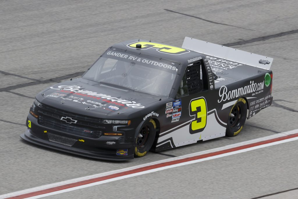 HAMPTON, GEORGIA - JUNE 06: Jordan Anderson, driver of the #3 Bommarito Automotive Group Chevrolet, drives during the NASCAR Gander Outdoors Truck Series Vet Tix Camping World 200 at Atlanta Motor Speedway on June 06, 2020 in Hampton, Georgia. (Photo by Chris Graythen/Getty Images) | Getty Images