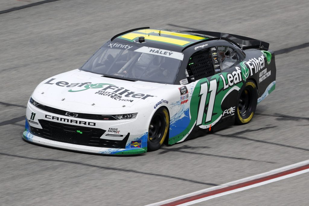 HAMPTON, GEORGIA - JUNE 06: Justin Haley, driver of the #11 LeafFilter Gutter Protection Chevrolet, drives during the NASCAR Xfinity Series EchoPark 250 at Atlanta Motor Speedway on June 06, 2020 in Hampton, Georgia. (Photo by Chris Graythen/Getty Images) | Getty Images