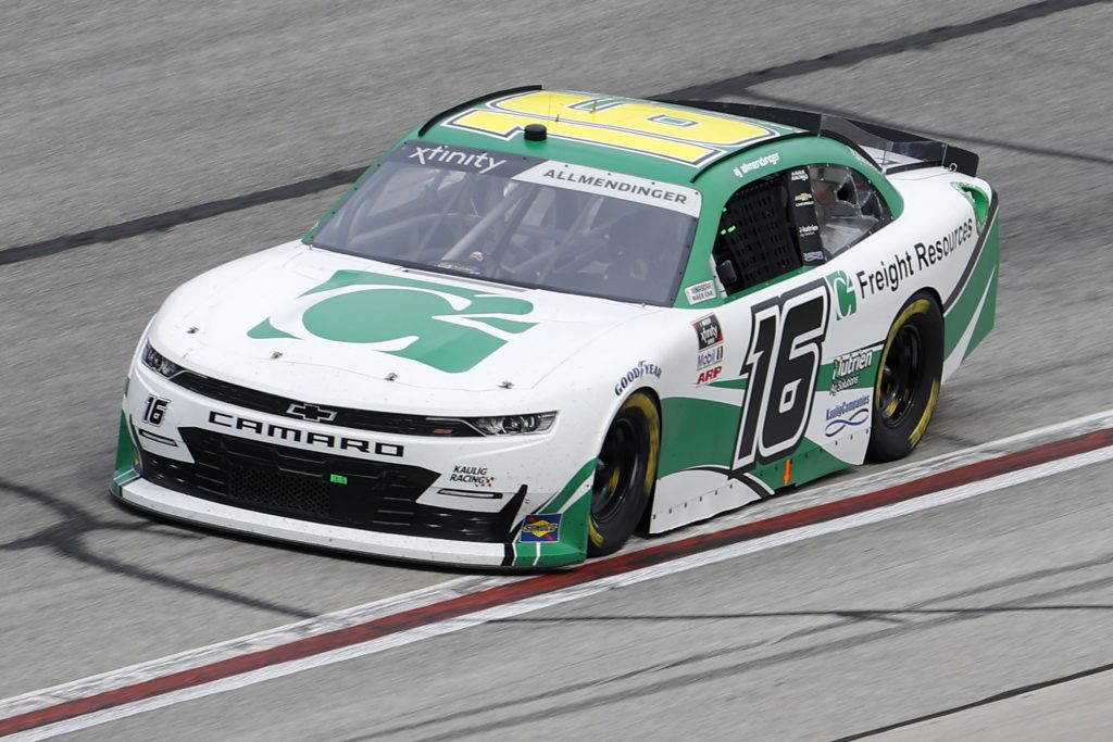 HAMPTON, GEORGIA - JUNE 06: AJ Allmendinger, driver of the #16 C2 Freight Resources Chevrolet, drives during the NASCAR Xfinity Series EchoPark 250 at Atlanta Motor Speedway on June 06, 2020 in Hampton, Georgia. (Photo by Chris Graythen/Getty Images) | Getty Images