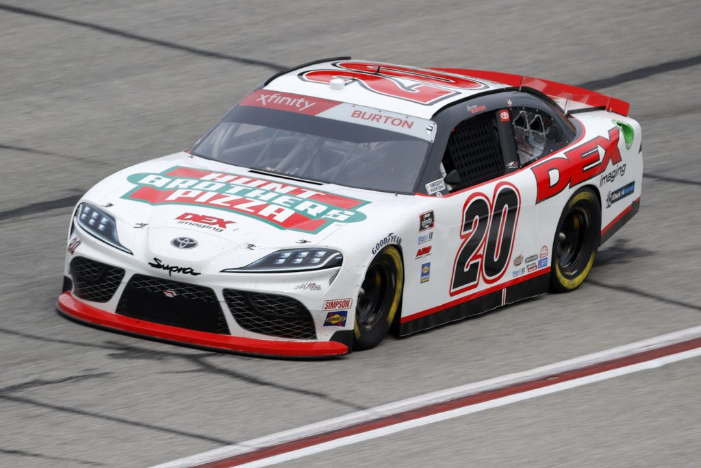 HAMPTON, GEORGIA - JUNE 06: Harrison Burton, driver of the #20 Hunt Brothers Pizza/DEX Imaging Toyota, drives during the NASCAR Xfinity Series EchoPark 250 at Atlanta Motor Speedway on June 06, 2020 in Hampton, Georgia. (Photo by Chris Graythen/Getty Images) | Getty Images