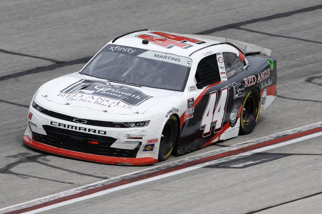 HAMPTON, GEORGIA - JUNE 06: Tommy Joe Martins, driver of the #44 Gilreath Farms Chevrolet, drives during the NASCAR Xfinity Series EchoPark 250 at Atlanta Motor Speedway on June 06, 2020 in Hampton, Georgia. (Photo by Chris Graythen/Getty Images) | Getty Images