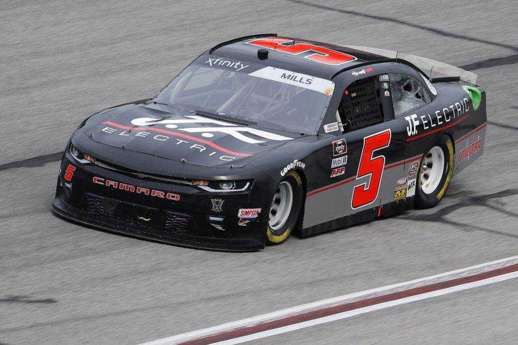 HAMPTON, GEORGIA - JUNE 06: Matt Mills, driver of the #5 J.F. Electric Chevrolet, drives during the NASCAR Xfinity Series EchoPark 250 at Atlanta Motor Speedway on June 06, 2020 in Hampton, Georgia. (Photo by Chris Graythen/Getty Images) | Getty Images