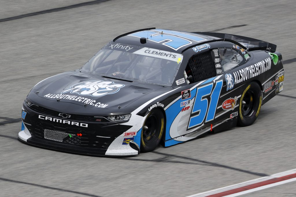 HAMPTON, GEORGIA - JUNE 06: Jeremy Clements, driver of the #51 All South Electric Chevrolet, drives during the NASCAR Xfinity Series EchoPark 250 at Atlanta Motor Speedway on June 06, 2020 in Hampton, Georgia. (Photo by Chris Graythen/Getty Images) | Getty Images