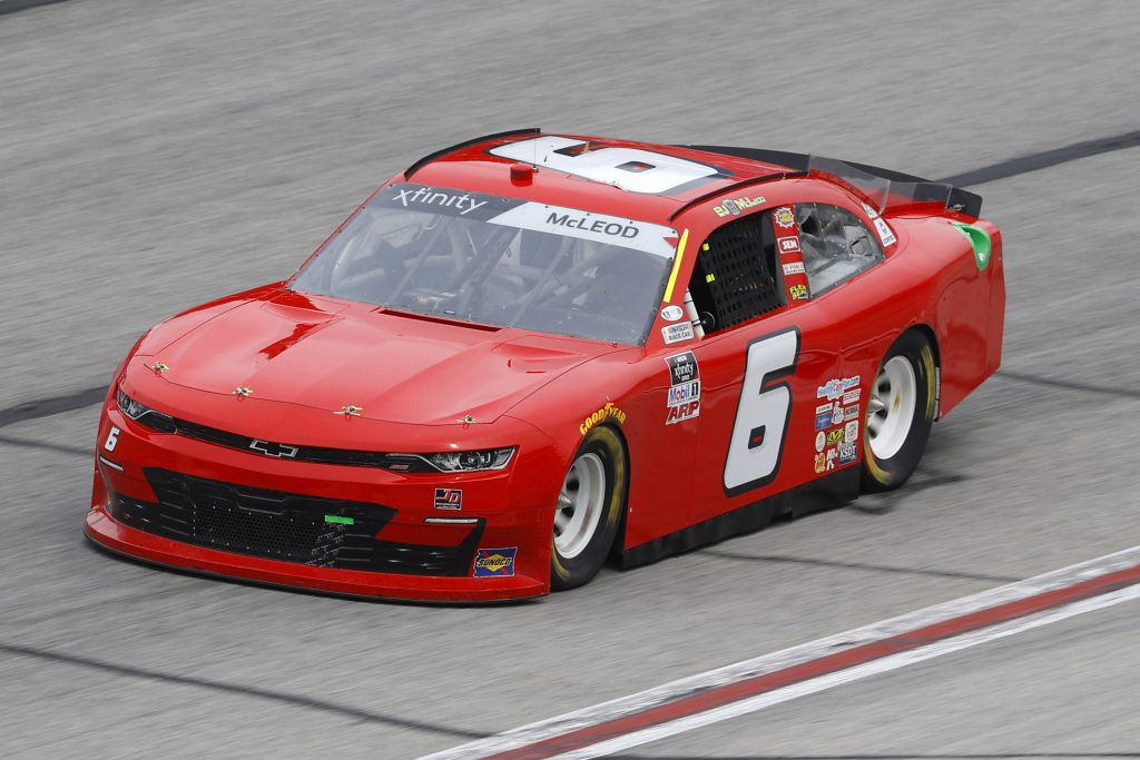 HAMPTON, GEORGIA - JUNE 06: BJ McLeod, driver of the #6 JD Motorsports Chevrolet, drives during the NASCAR Xfinity Series EchoPark 250 at Atlanta Motor Speedway on June 06, 2020 in Hampton, Georgia. (Photo by Chris Graythen/Getty Images) | Getty Images