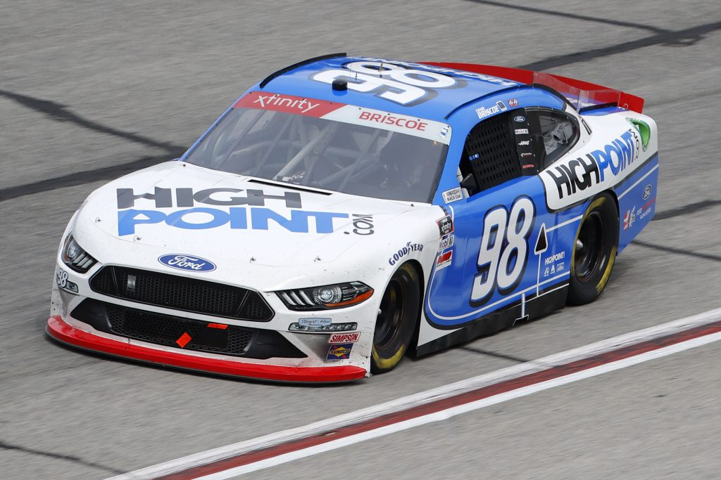 HAMPTON, GEORGIA - JUNE 06: Chase Briscoe, driver of the #98 HighPoint.com Ford, drives during the NASCAR Xfinity Series EchoPark 250 at Atlanta Motor Speedway on June 06, 2020 in Hampton, Georgia. (Photo by Chris Graythen/Getty Images) | Getty Images