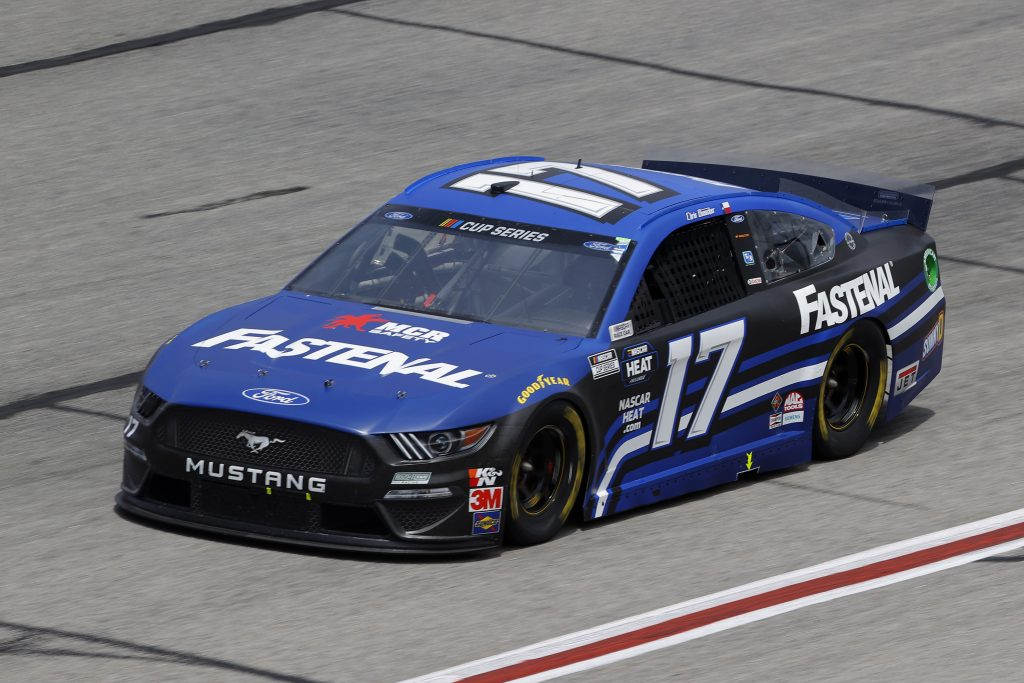HAMPTON, GEORGIA - JUNE 07: Chris Buescher, driver of the #17 Fastenal Ford, drives during the NASCAR Cup Series Folds of Honor QuikTrip 500 at Atlanta Motor Speedway on June 07, 2020 in Hampton, Georgia. (Photo by Chris Graythen/Getty Images) | Getty Images