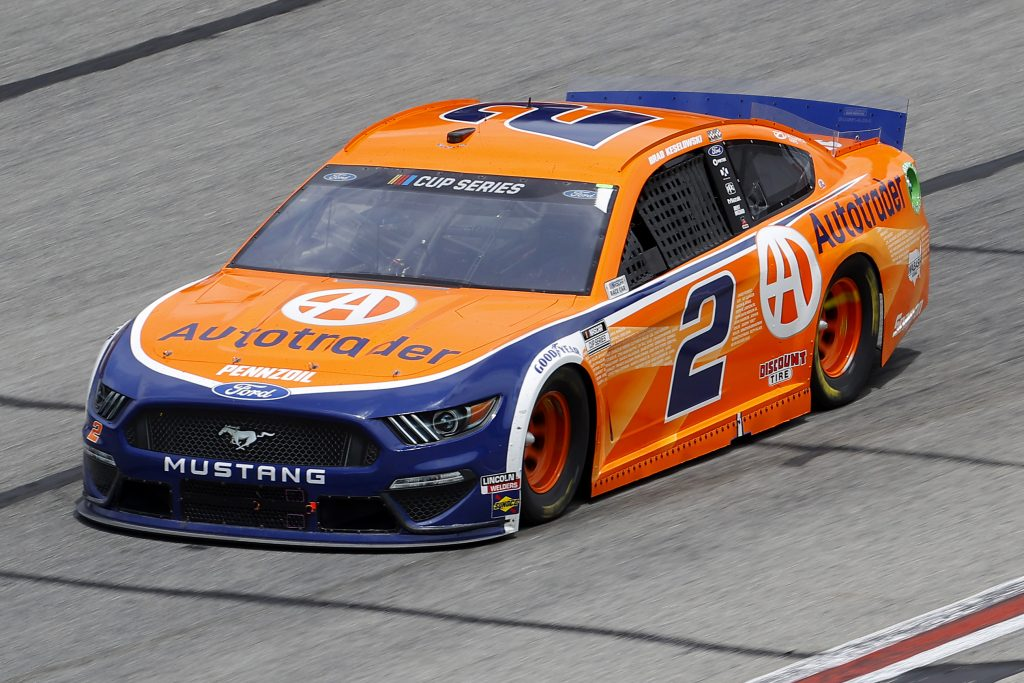 HAMPTON, GEORGIA - JUNE 07: Brad Keselowski, driver of the #2 Autotrader Ford, drives during the NASCAR Cup Series Folds of Honor QuikTrip 500 at Atlanta Motor Speedway on June 07, 2020 in Hampton, Georgia. (Photo by Chris Graythen/Getty Images) | Getty Images
