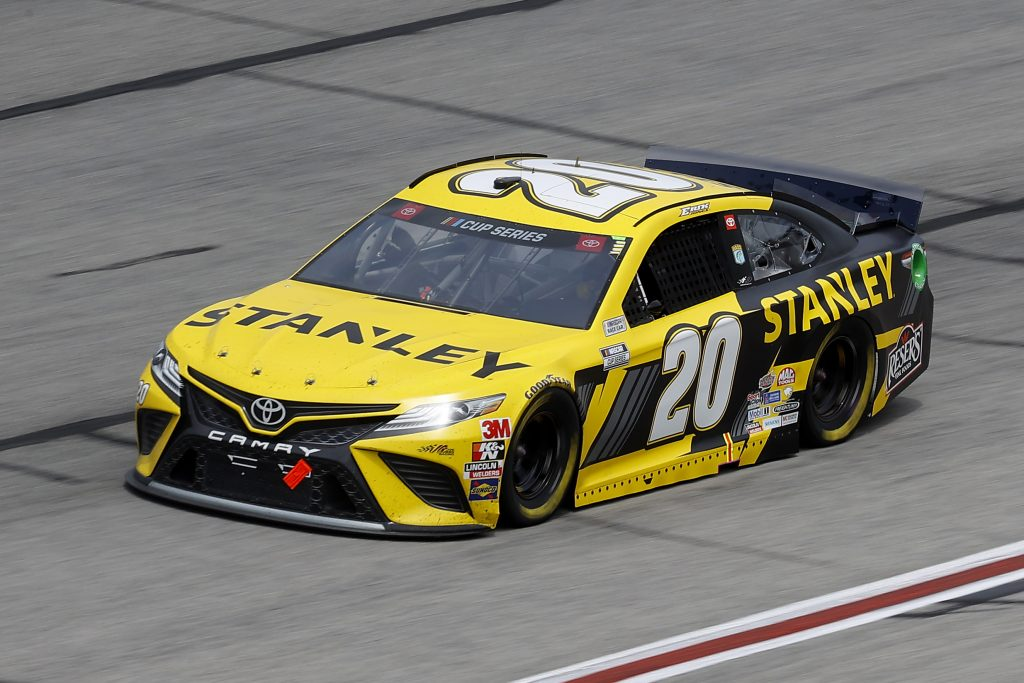 HAMPTON, GEORGIA - JUNE 07: Erik Jones, driver of the #20 STANLEY Toyota, drives during the NASCAR Cup Series Folds of Honor QuikTrip 500 at Atlanta Motor Speedway on June 07, 2020 in Hampton, Georgia. (Photo by Chris Graythen/Getty Images) | Getty Images
