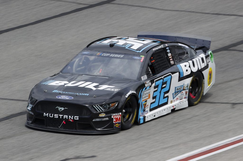 HAMPTON, GEORGIA - JUNE 07: Corey LaJoie, driver of the #32 Built Bar Ford, drives during the NASCAR Cup Series Folds of Honor QuikTrip 500 at Atlanta Motor Speedway on June 07, 2020 in Hampton, Georgia. (Photo by Chris Graythen/Getty Images) | Getty Images