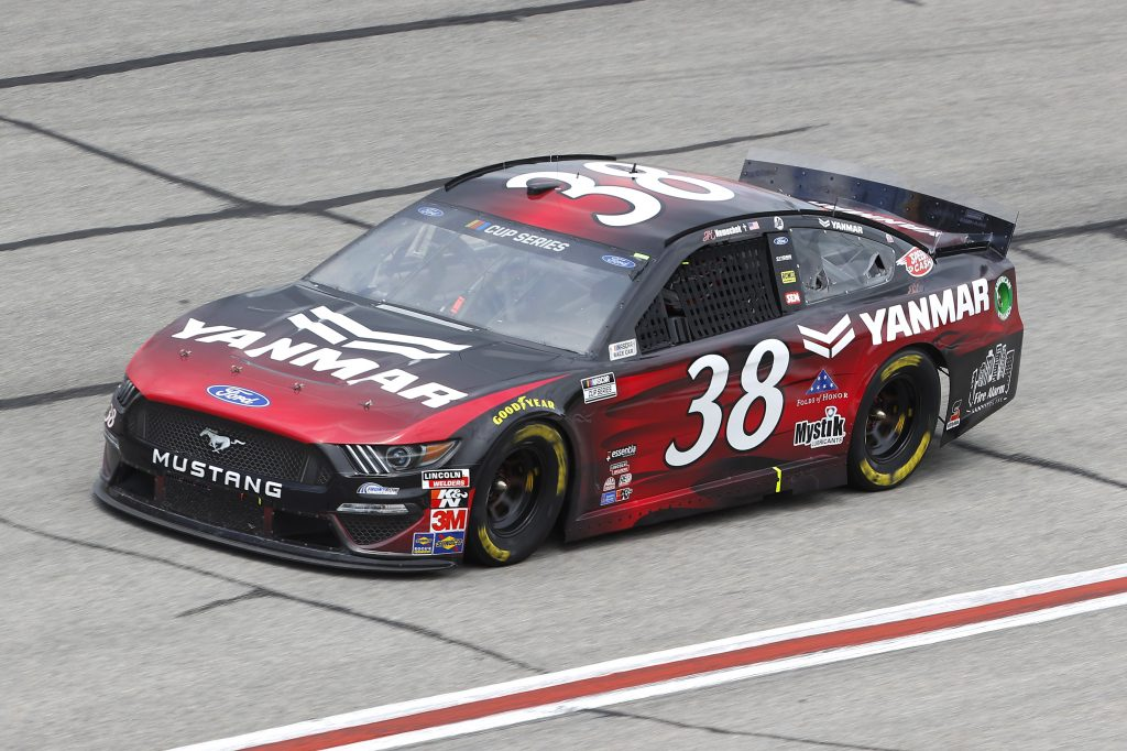 HAMPTON, GEORGIA - JUNE 07: John Hunter Nemechek, driver of the #38 YANMAR Ford, drives during the NASCAR Cup Series Folds of Honor QuikTrip 500 at Atlanta Motor Speedway on June 07, 2020 in Hampton, Georgia. (Photo by Chris Graythen/Getty Images) | Getty Images