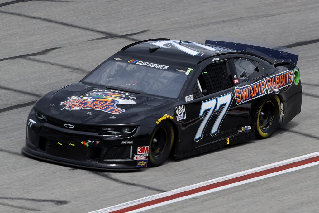 HAMPTON, GEORGIA - JUNE 07: JJ Yeley, driver of the #77 Spire Motorsports Chevrolet, drives during the NASCAR Cup Series Folds of Honor QuikTrip 500 at Atlanta Motor Speedway on June 07, 2020 in Hampton, Georgia. (Photo by Chris Graythen/Getty Images) | Getty Images