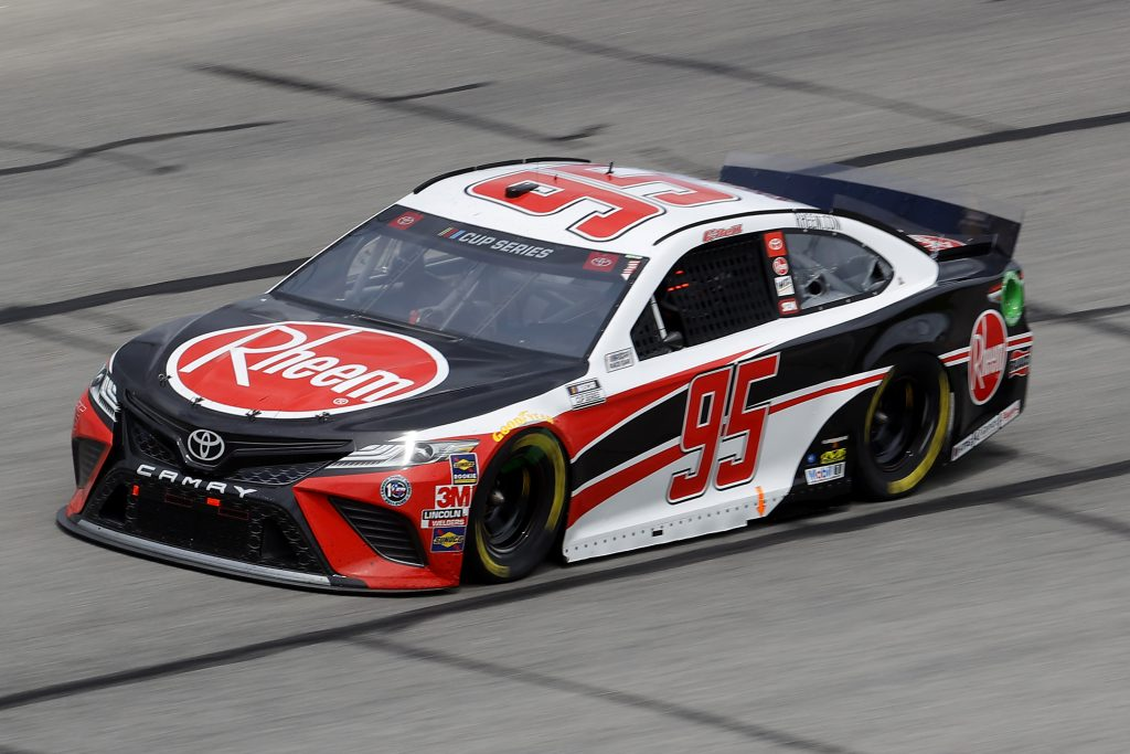 HAMPTON, GEORGIA - JUNE 07: Christopher Bell, driver of the #95 Rheem Toyota, drives during the NASCAR Cup Series Folds of Honor QuikTrip 500 at Atlanta Motor Speedway on June 07, 2020 in Hampton, Georgia. (Photo by Chris Graythen/Getty Images) | Getty Images