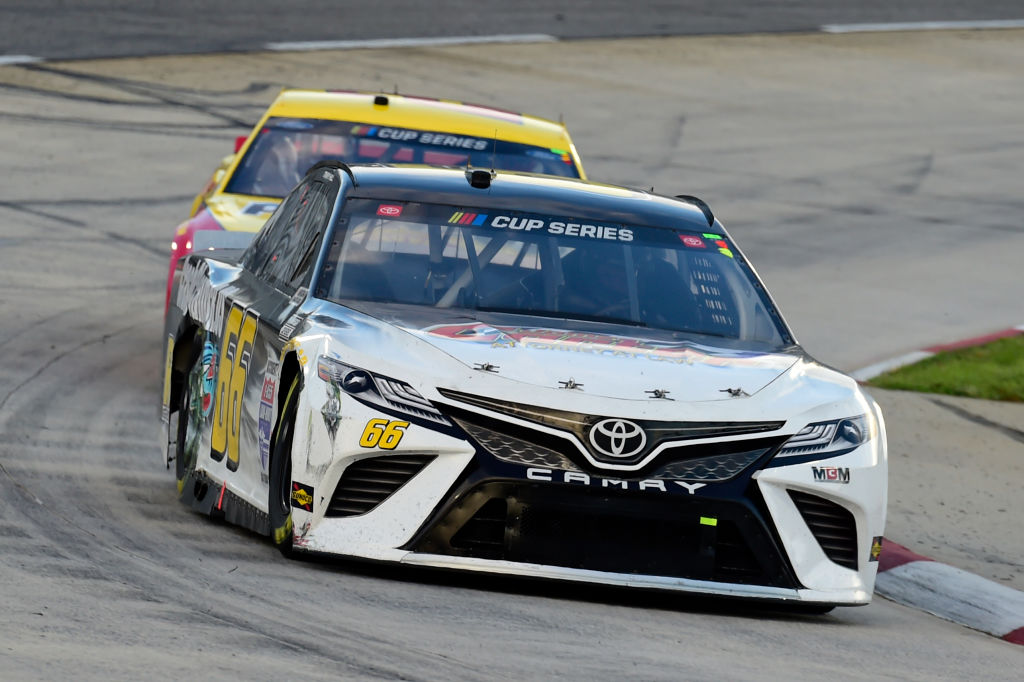 MARTINSVILLE, VIRGINIA - JUNE 10: Timmy Hill, driver of the #66 CrashClaimsR.us Toyota, drives during the NASCAR Cup Series Blue-Emu Maximum Pain Relief 500 at Martinsville Speedway on June 10, 2020 in Martinsville, Virginia. (Photo by Jared C. Tilton/Getty Images) | Getty Images