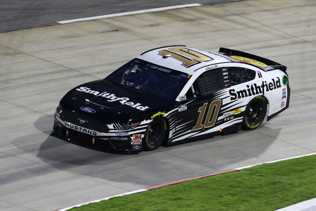 MARTINSVILLE, VIRGINIA - JUNE 10: Aric Almirola, driver of the #10 Smithfield Ford, drives during the NASCAR Cup Series Blue-Emu Maximum Pain Relief 500 at Martinsville Speedway on June 10, 2020 in Martinsville, Virginia. (Photo by Rob Carr/Getty Images) | Getty Images
