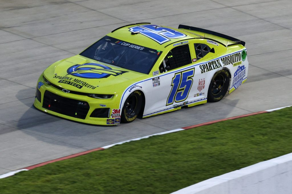 MARTINSVILLE, VIRGINIA - JUNE 10: Brennan Poole, driver of the #15 Remember Everyone Deployed Chevrolet, drives during the NASCAR Cup Series Blue-Emu Maximum Pain Relief 500 at Martinsville Speedway on June 10, 2020 in Martinsville, Virginia. (Photo by Rob Carr/Getty Images) | Getty Images