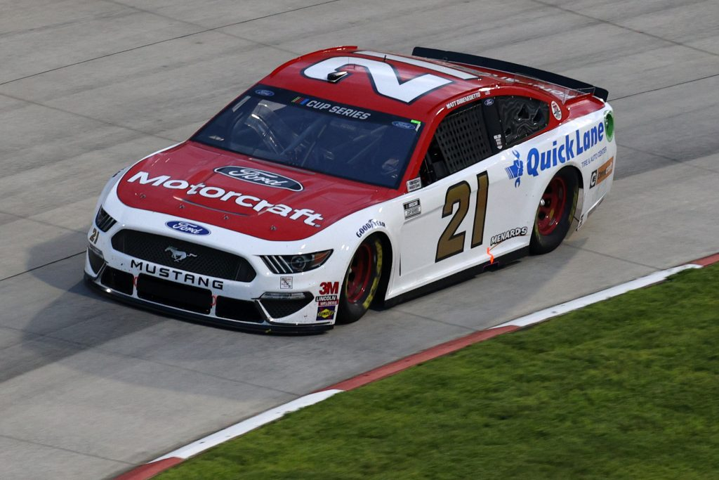 MARTINSVILLE, VIRGINIA - JUNE 10: Matt DiBenedetto, driver of the #21 Motorcraft/Quick Lane Ford, drives during the NASCAR Cup Series Blue-Emu Maximum Pain Relief 500 at Martinsville Speedway on June 10, 2020 in Martinsville, Virginia. (Photo by Rob Carr/Getty Images) | Getty Images