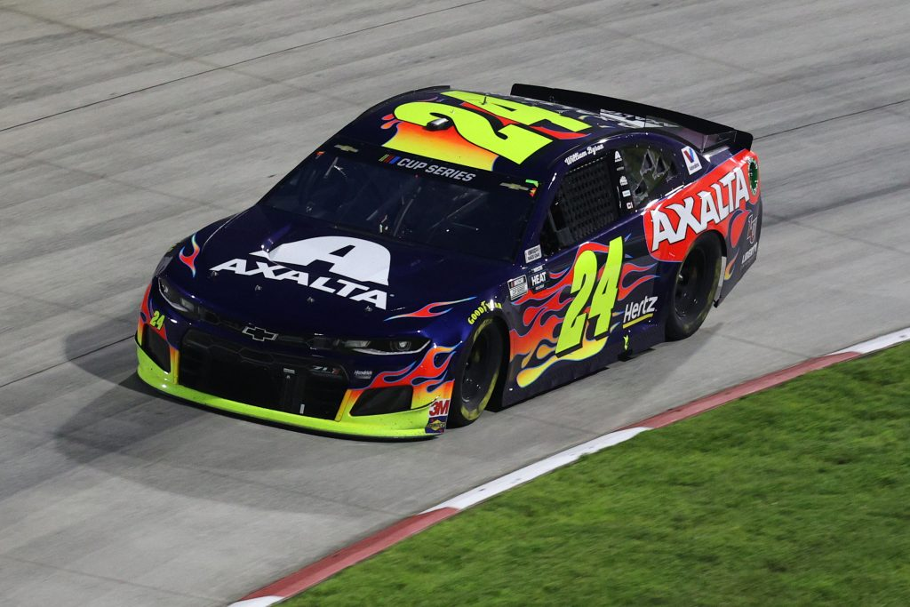 MARTINSVILLE, VIRGINIA - JUNE 10: William Byron, driver of the #24 Axalta Chevrolet, drives during the NASCAR Cup Series Blue-Emu Maximum Pain Relief 500 at Martinsville Speedway on June 10, 2020 in Martinsville, Virginia. (Photo by Rob Carr/Getty Images) | Getty Images